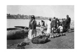 River Craft Laden with Melons  Tigris River  Baghdad  Iraq  1917-1919