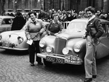 Three Women with a Sunbeam Talbot  Monte Carlo Rally  18th January 1954