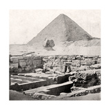 The Sphinx and the Great Pyramid  Egypt  Early 20th Century
