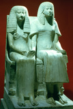 Statue of a Husband and Wife  Egyptian  18th Dynasty