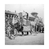 An Elephant Procession Passing Jumma Masjid  Delhi  India  1900s