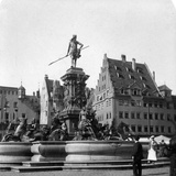 The Neptune Fountain  Nuremberg  Germany  C1900s