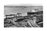 The Landing Stage at Liverpool Docks  Merseyside  Early 20th Century