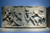 Relief Depicting Greek Soldiers Fighting Amazons