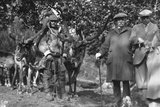 Tourists Posing Alongside a Man with Reindeer  Lyngen  Norway  1929