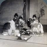 Geishas at Dinner  Tokyo  Japan  1904