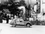 A Citroën 2CV in the Monte Carlo Rally  1954