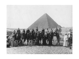 Camel Tour in Front of One of the Pyramids of Giza  Egypt  C1920s-C1930s