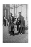 Persian Pilgrims Outside Kazimain Mosque  Iraq  1917-1919