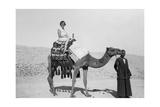 Woman on a Camel Tour  Egypt  C1920S-C1930S
