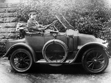 Woman in a 1911 Convertible Renault Ax  C1911