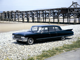 A 1961 Cadillac Presidential Limousine on a Beach