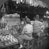 Japanese Shoe Shop  Early 20th Century