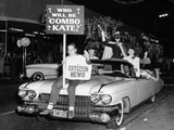 Fancy Dress Parade with a 1957 Cadillac  USA  (C1957)