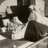 A Soldier Writing a Letter in Hospital  World War I  1914-1918