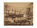 Russian Warships in the Cossack Bay  Balaklava  Ca 1855