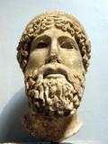 Marble Head  Probably of the Ancient Greek God Zeus  Possibly 1st Century Bc