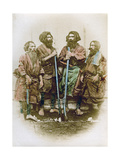Group of Ainu People  Japan  1882