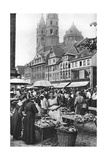 The Market Place at Worms Cathedral  Worms  Germany  1922