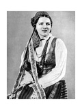 Lithuanian Woman in Traditional Dress  1936