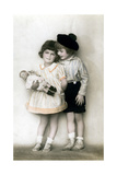 A Young Girl and Boy  Early 20th Century