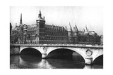 View of the Courts of Justice and the Pont Neuf from the River Seine  Paris  1931