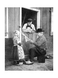 Dutch People Wearing Clogs  Marken  Holland  1936