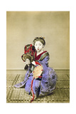 Geisha Playing the Tsuzumi  Japan  1882