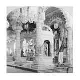 Interior of the Temple of Babulnath  Bombay  India  1901