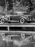 A 1933 Hispano-Suiza K6 Reflected in a Lake