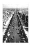 View of the Avenue Des Champs Elysees  Paris  1931