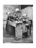 Children in Traditional Dress  Marken  Holland  1936