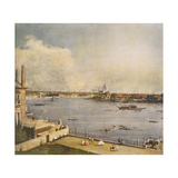 The Thames and the City of London from Richmond House  Whitehall  Westminster  C1747