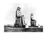 The Colossi of Memnon  Thebes  Nubia  Egypt  1887