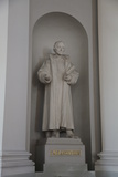 Statue of Philipp Melanchthon  Lutheran Cathedral  Helsinki  Finland  2011