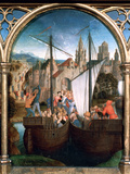 St Ursula Shrine  Arrival in Basle  1489