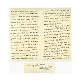 Letter from John Bright to Colonel Rathbone  23rd January 1861