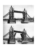 Tower Bridge Open and Closed  London  1926-1927