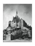 Mont Saint-Michel  Normandy  France  1937