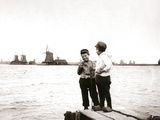 Boys by a Canal  Laandam  Netherlands  1898