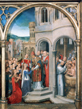 St Ursula Shrine  Arrival in Rome  1489