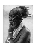 Queen Nenzima of the Mangbetu  Belgian Congo (Congo Republi)  1922