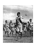 Bandsmen of the Northern Rhodesia Regiment Beat a Military Tattoo  Zimbabwe  Africa  1936