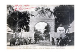 Arc De Triomphe Facade  Sidi Bel Abbes  Algeria  14 July 1906