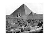 The Pyramids and Sphinx  Egypt  1893