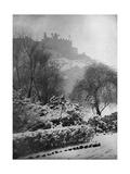 Edinburgh Castle in the Snow  from Princes Street Gardens  Scotland  1924-1926