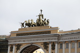 Quadriga on the General Staff Building  Palace Square  St Petersburg  Russia  2011