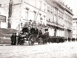 Horse-Drawn Hearse  Antwerp  1898