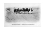 A Detachment of the French Foreign Legion in the Sahara Desert  Algeria  C1905