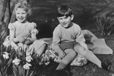 Prince Charles and Princess Anne as Children at Balmoral  28th September 1952